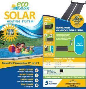 Eco Saver 20 Foot Solar Heating Panel System