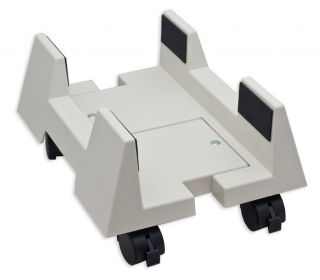 CPU Stand for Large Full Tower Case PC White with Wheels