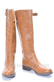 Franco Sarto Tan 7 5 M Faux Leather Patriot Zip Riding Boot Shoe $149