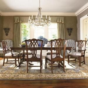 Thomasville Furniture Tate Street Dining Table Chairs Set Cherry Free