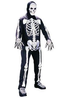 Brand New Scary Skeleton Bone Jumpsuit Adult Halloween Costume 9928