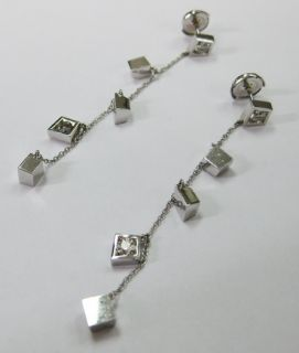 SIGNED TIFFANY & CO. FRANK GEHRY DIAMOND + 18K EARRINGS