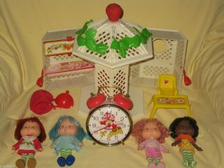 Lot of Strawberry Shortcake 1982 Gazebo Doll Orange Blossom Raspberry