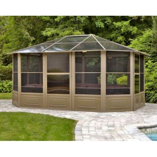 ... Four Seasons 12 X 15 Outdoor Patio Screenhouse Gazebo Canopy Sand ...