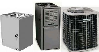 Gas Heating System 5TON 13SEER Condenser 90000BTU Furnace Evaporator