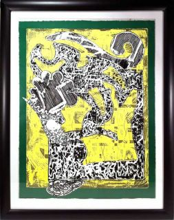 1985 Frank Stella Signed Numbered Tyler Graphics Lithograph Green