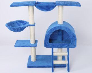 35H Blue Cat Tree Condo House Scratcher Pet Furniture Bed 16
