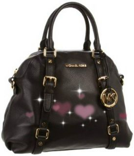 NEW 2012 Auth MICHAEL KORS LGBedford Bowling Satchel Leather Blk