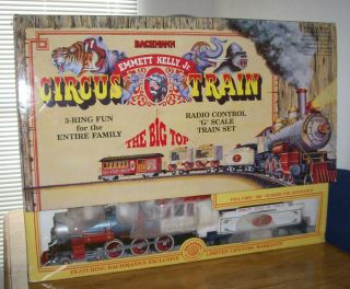 Emmett Kelly Jr Bachmann G Scale Radio Controlled Circus Train Set