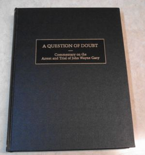 Doubt The Arrest Trial of John Wayne Gacy New 1st Edition 1993