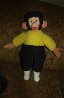 Monkey Rubber Face Mr Bim Zip Zippy j Fred Muggs Chimp Banana 18 Plush