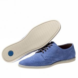 Fred Perry Jacobs Suede [9 Uk] Blue Trainers Shoes Mens New