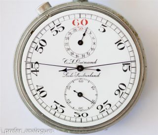 High Grade Gallet Rattrapante Stop Watch Signed C. L. Guinand.