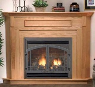 25 000 BTU Direct Vent Complete Gas Fireplace Package