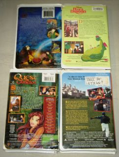 CHILDREN FAIRY TALE 4 VHS SET Black Cauldron, Quest For Camelot, Pete