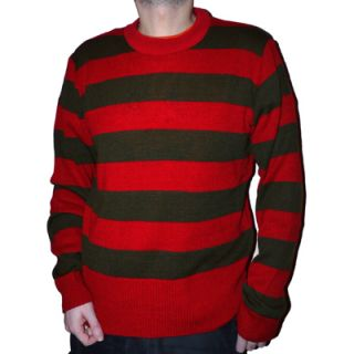 Red Green Striped Stripey Freddy Krueger Knitted Halloween Jumper