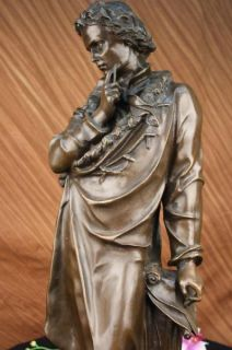 Signed Carrier Honoring Frederic Chopin Bronze Sculpture Statue Figure