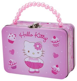 New Hello Kitty Ballerina Metal Box Container Case 2011