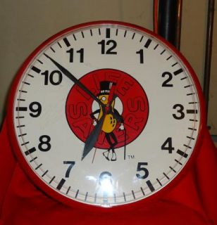 Planters Nut Mr Peanut Life Savers Candy Red Wall Clock