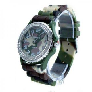 Geneva Platinum Full Camo Silicone Jelly Watch GP6886