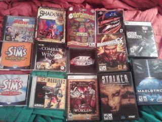 14 PC Computer Games lot NEED FOR SPEED 2 WORLDS RPG STALKER ULTIMATE