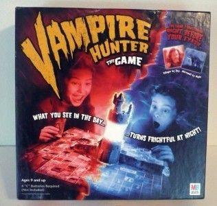 Vampire Hunter Board Game Play in Dark Hasbro