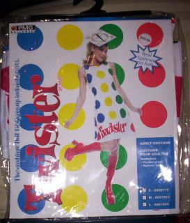 Adult Costume Twister Game Spinner Hat Womens Large New in Package