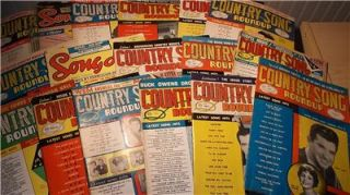 LOT 17 COUNTRY SONG ROUNDUP MAGAZINES 1960   1969 Johnny Cash Rolling