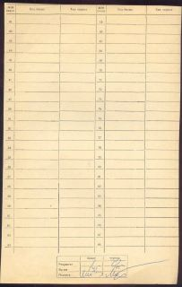 Chess Score Sheet 1972 Tal Mukhin Signed 40th Championship of USSR