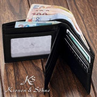UST VERTICAL BIFOLD MEN GENUINE LEATHER POCKET WALLET PURSE CARD