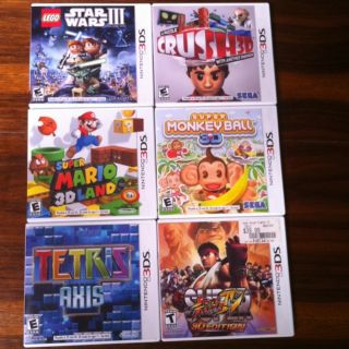 Big Lot Of 3DS Games Super Mario 3D Land, Super Street Fighter & More