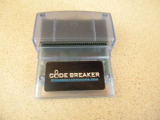 Game Boy Advance SP Codebreaker Code Breaker for Game Boy Advance Game