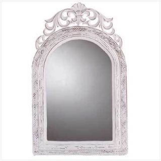 Arched Top Wall Mirror ♥ French Country Decor Distressed White
