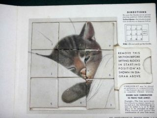 /antique CHESSIE CAT PUZZLE GAME ~ CHESSYKAT chesapeake ohio OLD