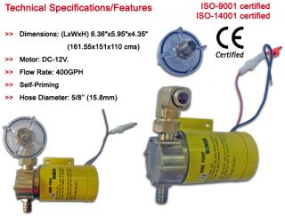 Marine Gear Transfer Pump for Boats Five Oceans