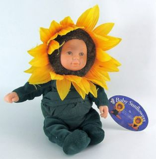 1999 ANNE GEDDES Cute Miniature BABY SUNFLOWERS Stuffed Doll