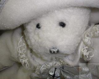 Ganz Glistening Winter Bear Wind Up Musical Movement Christmas Holiday