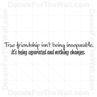 True Friendship Wall Decal Vinyl Decor Saying Art Sticker Quote