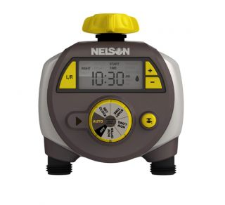 Dual Outlet Hose Water Timer, Lawn & Yard Watering Control 56612