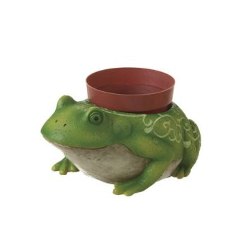 Large Frog Toad Statue Garden Planter with Flower Pot