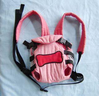 Small Dog Pet Front Carrier Bag Safe Comfy Soft Ajustable Pink Up to