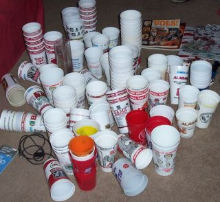 Alabama Crimson Tide Huge Lot of Collectors Cups 1970s 1980S1990s