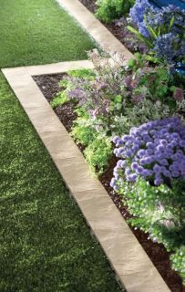 NEW SET OF 16 STONE  GARDEN BORDER EDGING SNAP TOGETHER FOR