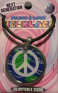 Next Generation Peace Love White Peace Symbol Design Adjustable