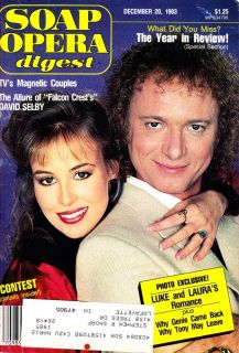 Soap Opera Digest Tony Geary Genie Francis Luke Laura Dec 20 1983 GH