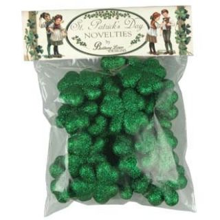 New Glittered Green Shamrock Garland Bethany Lowe St Patricks Day
