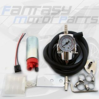 JDM Universal Fuel Pressure Regulator 255LPH Fuel Pump