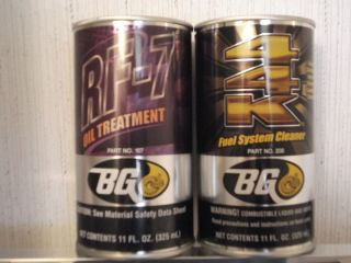 BG 44K FUEL system cleaner additive BG RF 7 OIL treatment makers of BG
