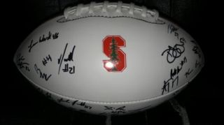 2012 Stanford Cardinal team signed football  PROOF 30 SIGS COA