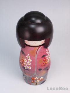 Japanese Wooden Kokeshi Doll Kimono by Fujikawa Dolls